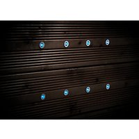 Wickes Blue LED Deck Lights 15mm 8 Pack