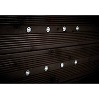 Wickes Daylight White LED Deck Lights 15mm 8 Pack