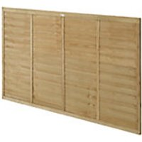 Forest Garden Pressure Treated Overlap Fence Panel - 6ft x 4ft Pack of 4