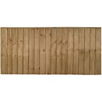 Forest Garden Featheredge Fence Panel - 6 x 3ft Pack of 3