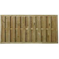 Forest Garden Pressure Treated Vertical Hit & Miss Fence Panel - 6 x 3ft Pack of 4