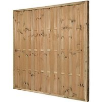 Forest Garden Pressure Treated Vertical Hit & Miss Fence Panel - 6 x 6ft Pack of 3