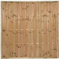 Forest Garden Pressure Treated Vertical Hit & Miss Fence Panel - 6 x 6ft Pack of 5