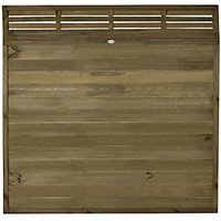 Forest Garden Tongue & Groove Fence Panel with Venetian Top - 6 x 6ft Pack of 4