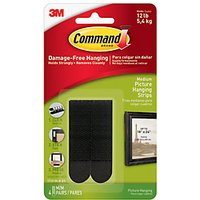 Command Medium Picture Hanging Strips - Black Pack of 4