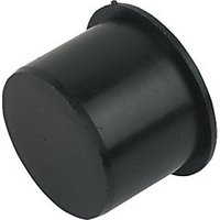 FloPlast WP31B Push fit Waste Socket Plug   Black 40mm