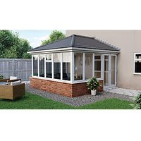 Click to view product details and reviews for Euramax Edwardian E7 Solid Roof Dwarf Wall Conservatory 13 X 10 Ft.