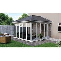 Euramax Edwardian E8 Solid Roof Full Glass Conservatory - 13 x 12 ft