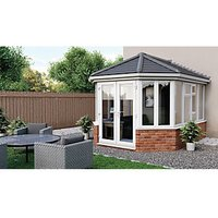 Euramax Victorian V3 Solid Roof Dwarf Wall Conservatory - 10 x 13 ft