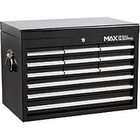 Hilka Professional 12 Drawer Large Capacity Tool Chest - Black