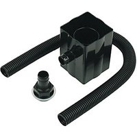 FloPlast RVS1B Round to Square Downpipe Rainwater Diverter - Black