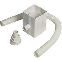 Click to view product details and reviews for Floplast Rvs1w Round To Square Downpipe Rainwater Diverter White.