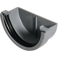 Click to view product details and reviews for Floplast Rem1g Miniflo Gutter External Stopend Grey.