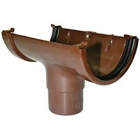 Click to view product details and reviews for Floplast Rom1br Miniflo Gutter Running Outlet Brown.