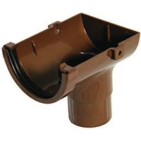 Click to view product details and reviews for Floplast Rom2br Miniflo Gutter Stopend Outlet Brown.