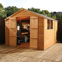 Mercia Timber Shiplap Apex Shed - 10 x 7 ft
