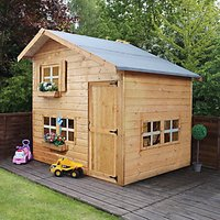 Mercia Double Storey Playhouse - 8 x 6 ft with Assembly
