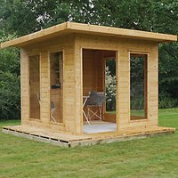 Mercia Modern Cube Summerhouse with Bi-Fold Doors - 10 x 10 ft with Assembly