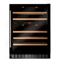 CDA 600mm Black Glass Wine Cooler FWC604BL