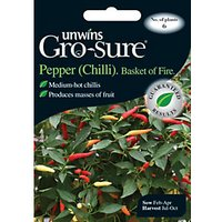 Unwins Basket Of Fire Chilli Pepper Seeds