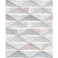 Graham & Brown Superfresco Easy Geo Brick White Decorative Wallpaper - 10m