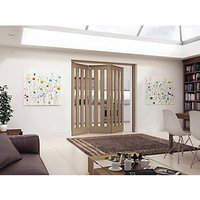 Jeld-Wen York Fully Glazed Oak 3 Lite Internal Bi-Fold 3 Door Set - 2047mm x 1929mm