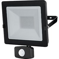 Luceco  Eco Floodlight PIR  IP54 Black 1600 Lumens 20W