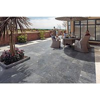 Marshalls Lazaro Marble Paving Patio Pack - Smooth Ocean 12.