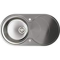 Abode Circuit 1.0 Bowl Inset Kitchen Sink - Stainless Steel