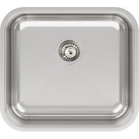 Abode Melbourne 1 Bowl Kitchen Sink - Stainless Steel