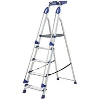 Click to view product details and reviews for Werner Work Station 5 Tread Aluminium Stepladder.