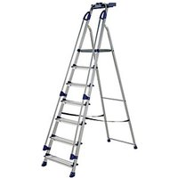 Click to view product details and reviews for Werner Work Station 7 Tread Aluminium Stepladder.