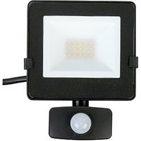Luceco Eco Floodlight PIR IP54 Black 800 Lumens 10W