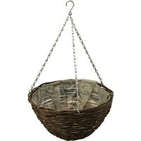 12in Dark Willow Hanging Basket with Chain