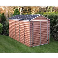 Palram 6x12ft Skylight Double Door Plastic Shed Amber