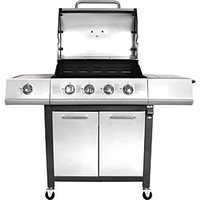 Charles Bentley 5 Burner (4+1 Side) Gas BBQ Silver