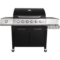 Charles Bentley 7 Burner (6+1 Side) Gas BBQ Black