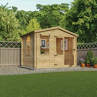 Mercia 2.6m x 3.3m 19mm Log Thickness Log Cabin with Assembly