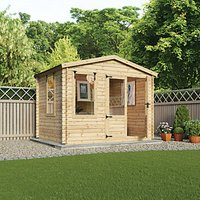 Mercia 3.3m x 3.0m 19mm Log Thickness Log Cabin with Assembly