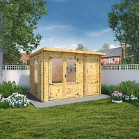 Mercia 3.5m x 2.4m 19mm Log Thickness Delamere Log Cabin with Assembly