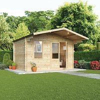 Mercia 4m x 3m 34mm Log Thickness Haven Log Cabin with Assembly