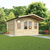 Mercia 4m x 4m 34mm Log Thickness Haven Log Cabin with Assembly