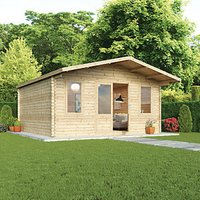 Mercia 5m x 5m 34mm Log Thickness Haven Log Cabin with Assembly