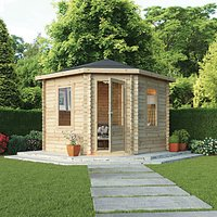 Mercia 3m x 3m 28mm Log Thickness Corner Log Cabin with Assembly