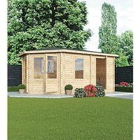 Mercia 5m x 3m 28mm Log Thickness Corner Left Sided Log Cabin with Assembly