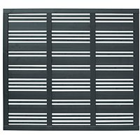 Forest Garden Mixed Slatted Grey Fence Panel 6 x 6 ft 4 Pack