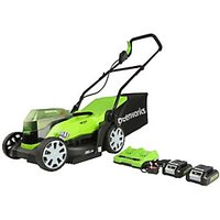 48V 36cm Lawnmower with Two 24v 2Ah Batteries and 2A Charger