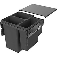 Envi Anthracite Pull Out Waste Bin 2x32l and 21l For 600mm Base Unit