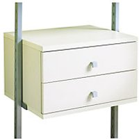 Wickes Small 2 drawer kit White 550mm