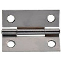 Wickes Butt Hinge Chrome Plated 51mm 20 Pack